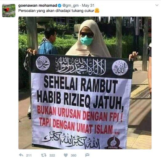 Goenawan Mohamad:Kasus Chat Habib Rizieq Di-SP3, Kata Ahok