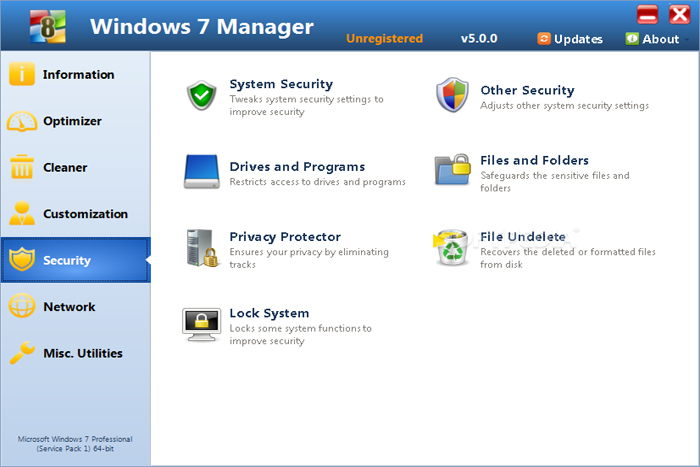 Windows 7 Manager Mampu Tweak dan Optimalisasi Sistem Hardware