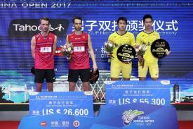 Ganda Putra Indonesia Marcus dan Kevin Jawara Tiongkok Open 2017
