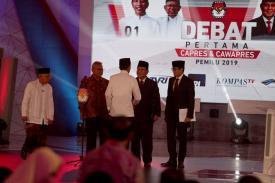Debat Capres : Ma'ruf Amin lebih banyak Diam, Strategi atau Kurang Waktu